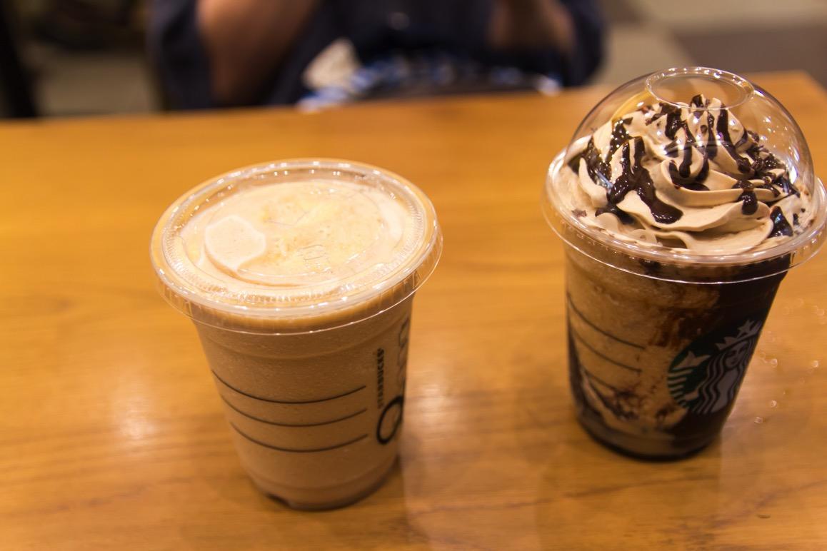 コーヒーフラペチーノと