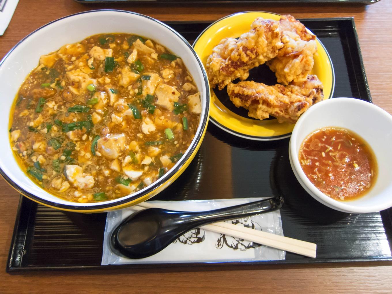 マーボー麺とザンギ