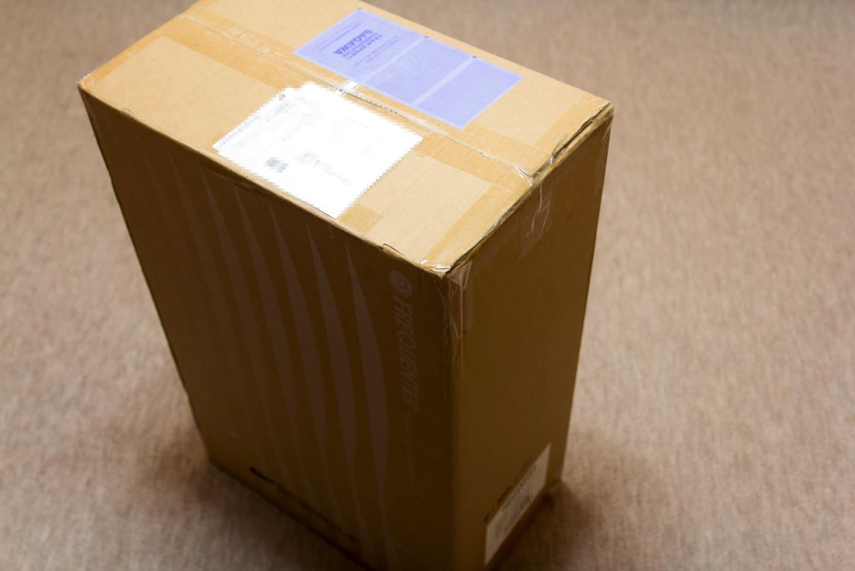 箱に入って到着