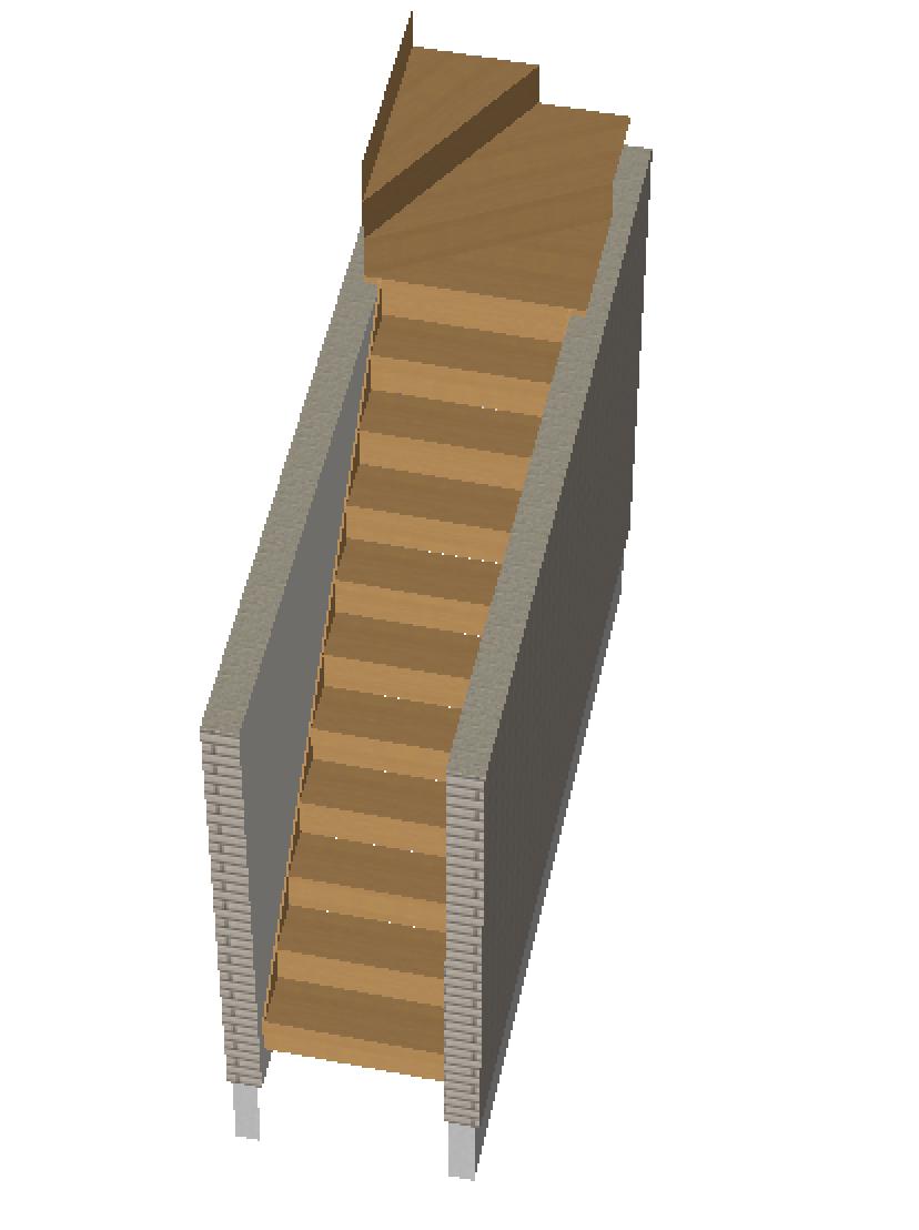 上曲がり階段